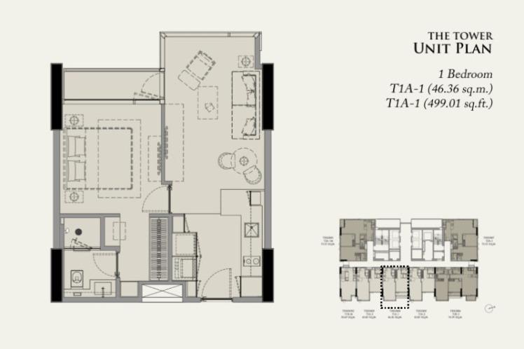 28ชิดลม_1-Bedroom-Plan